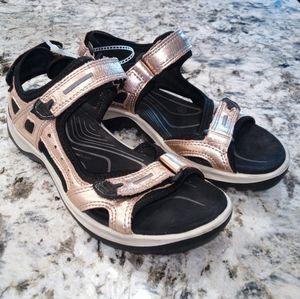 ECCO Women's Adjustable Hiking Sandal Rose Gold